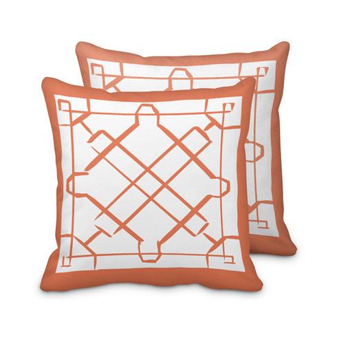 $125.00 Large Orange Lattice Pillow