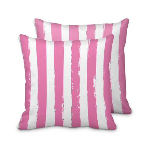 $125.00 Large Pink Striped Pillow