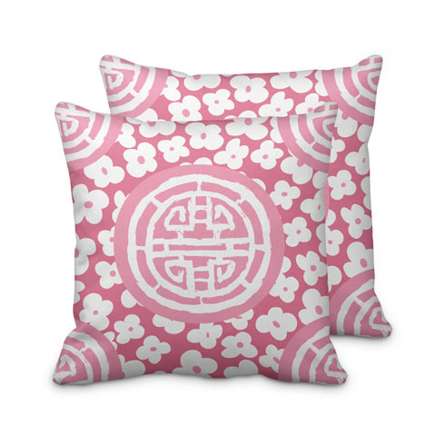 $125.00 Large Pink Medallion Pillow