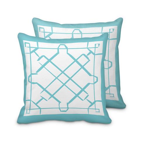 $125.00 Large Turquoise Lattice Pillow