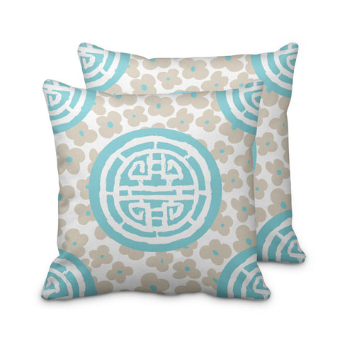 $125.00 Large Turquoise Medallion Pillow