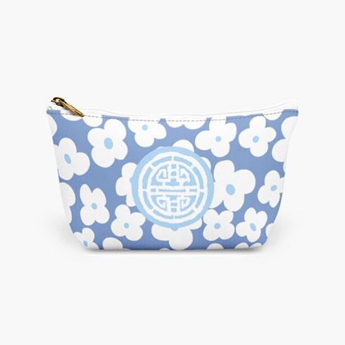 $25.00 Blue Medallion Cosmetic Bag  Large