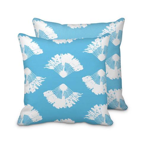 $95.00 Blue Fan Palm Pillow