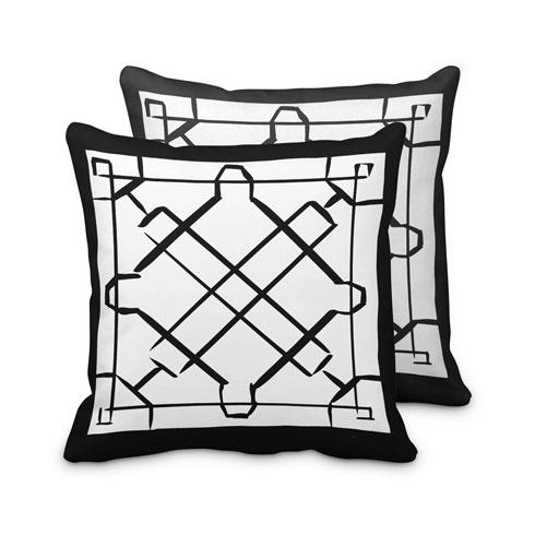 $95.00 Black Lattice Pillow