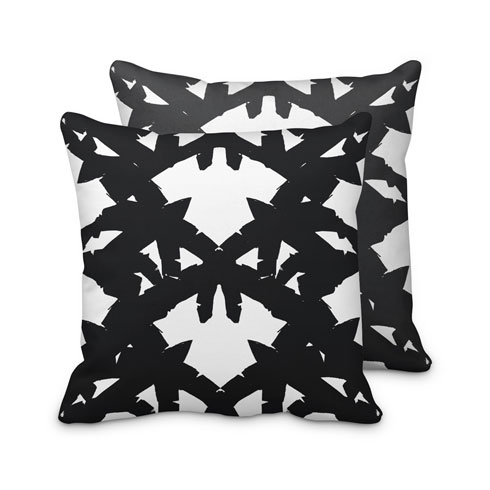 $95.00 Black Palm Leaf Pillow