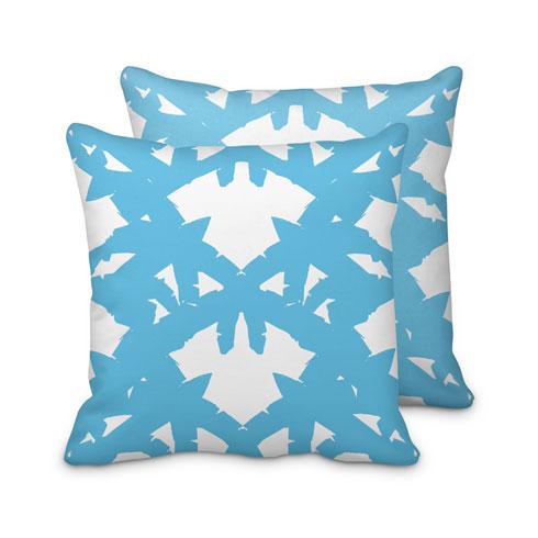 $95.00 Blue Palm Leaf Pillow