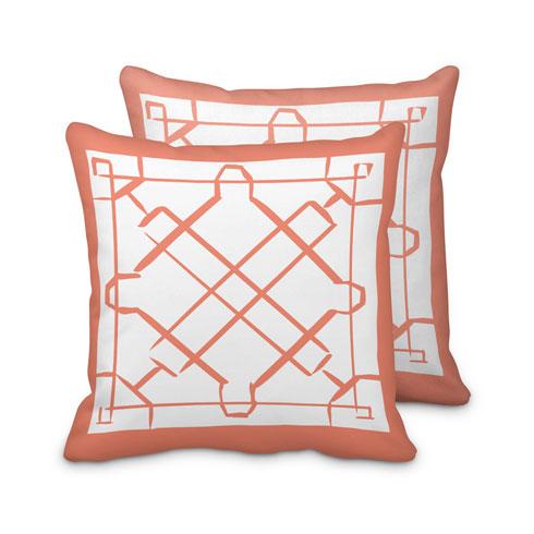 $95.00 Coral Lattice Pillow