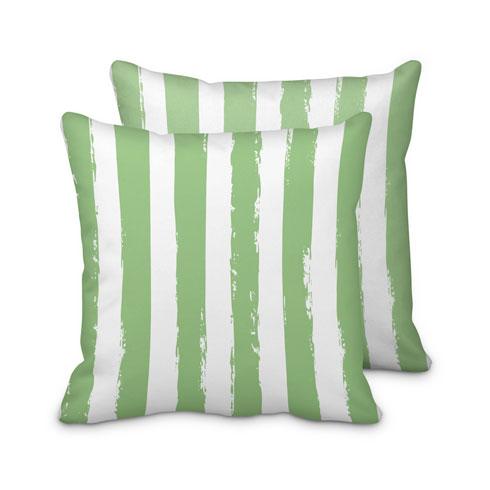 $95.00 Green Striped Pillow