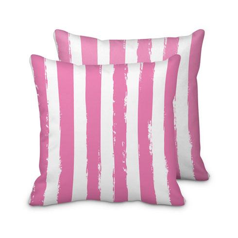$95.00 Pink Striped Pillow