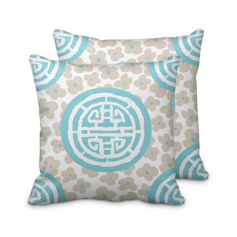 $95.00 Turquoise Medallion Pillow