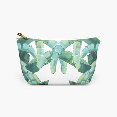 $19.00 Palm Tree Cosmetic Bag