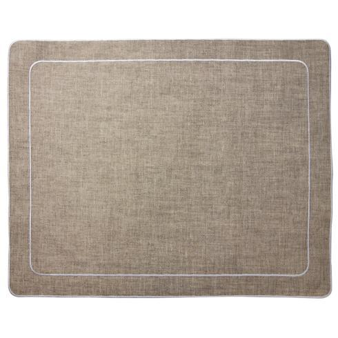 Skyros Designs  Linho Simple Rectangular Placemats Dark Natural - Set of 4 $100.00