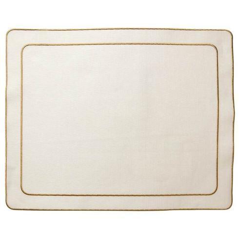 $108.00 Ivory w/ Gold - Set of 4