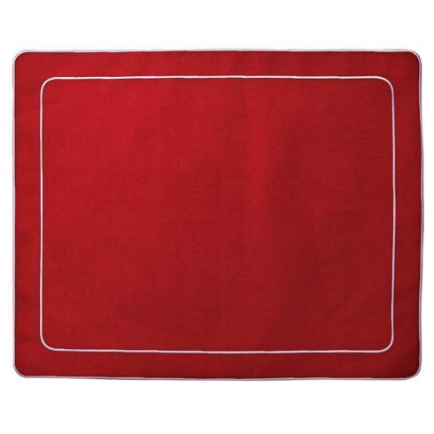 Skyros Designs  Linho Simple Rectangular Placemats Red Red - Set of 4 $100.00