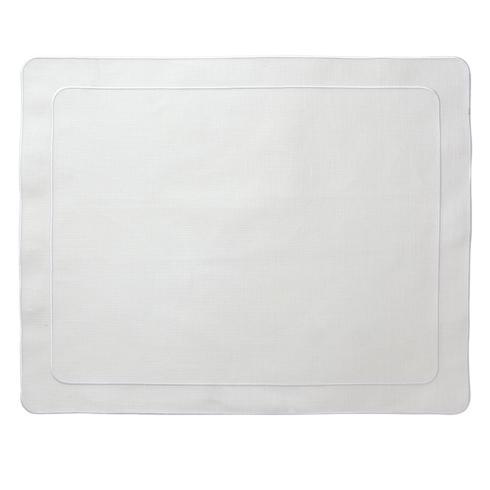 Skyros Designs  Linho Simple Rectangular Placemats White - Set of 4 $100.00