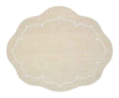 Skyros Designs  Linho Oval Placemats Oval Linen Mat Natural - Set of 4 $100.00