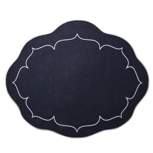 Skyros Designs  Linho Oval Placemats Navy - Set of 4 $108.00