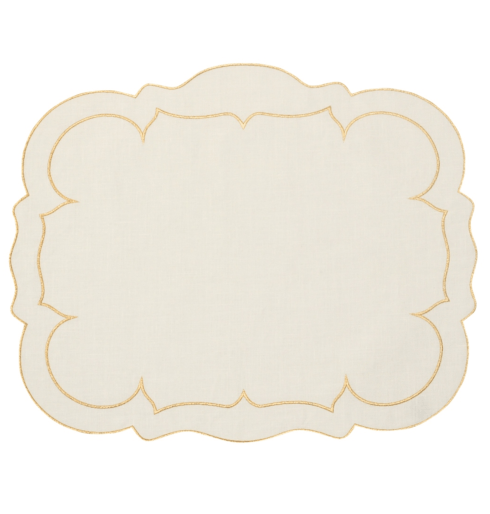 $100.00 Ivory w/ Gold - Set of 4