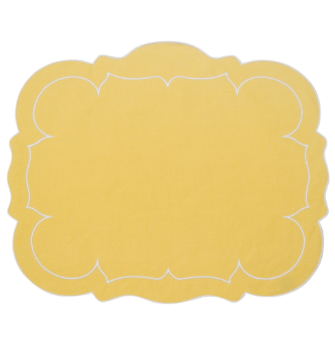 $100.00 Rectangular Linen Mat Yellow - Set of 4
