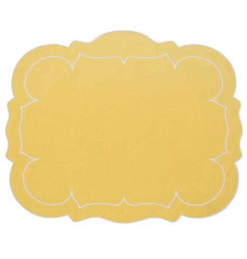$100.00 Rectangular Linen Mat Yellow - Set of 4