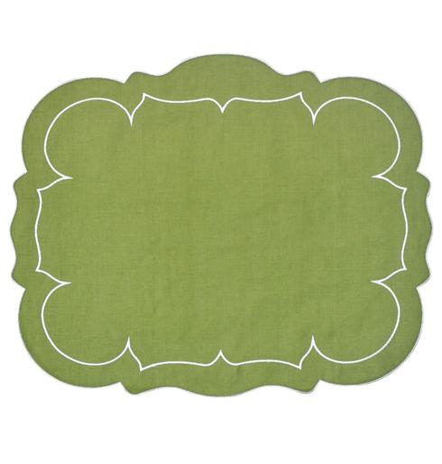$100.00 Rectangular Linen Mat Green - Set of 4