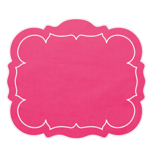 $100.00 Rectangular Linen Mat Fuchsia - Set of 4