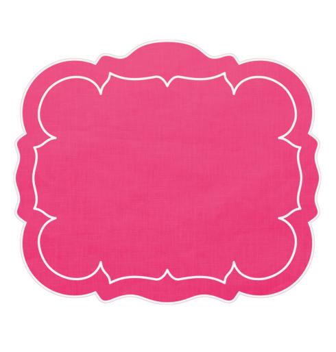 $100.00 Rectangular Linen Mat Fuchsia - Set of 4