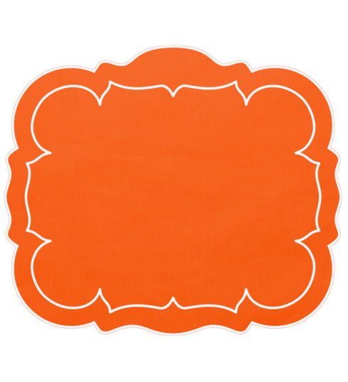 $100.00 Orange - Set of 4