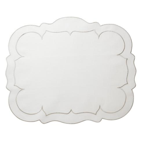 $108.00  White w/Platinum - Set of 4