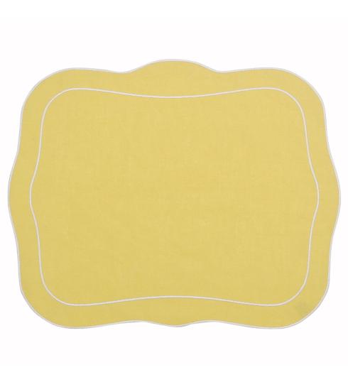$100.00 Patrician Linen Mat Yellow - Set of 4
