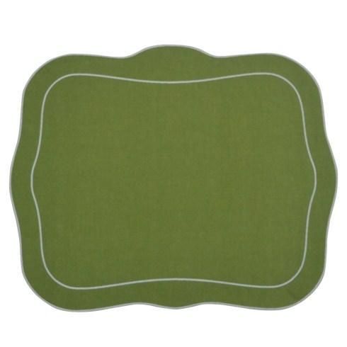 Patrician Linen Mat Green - Set of 4