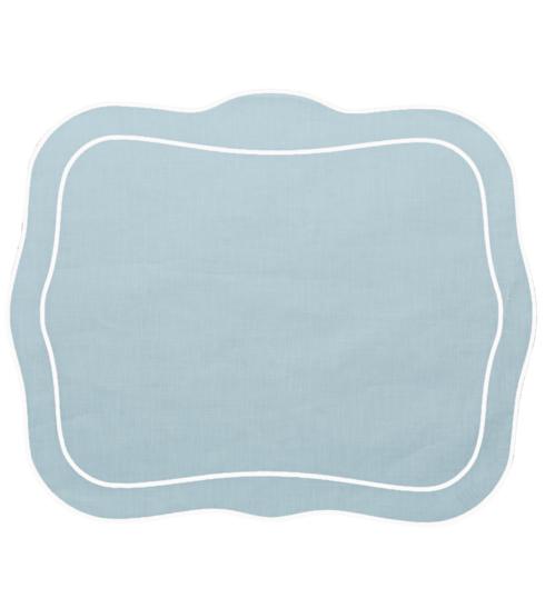 $100.00 Patrician Linen Mat Ice Blue - Set of 4