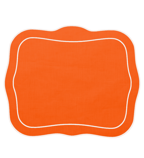 $100.00 Patricia Linen Linen Mat Orange - Set of 4