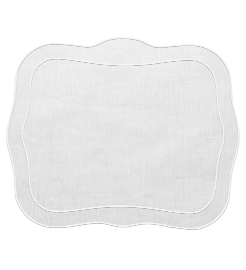 Skyros Designs  Linho Patrician Placemats Patrician Linen Mat White - Set of 4 $100.00