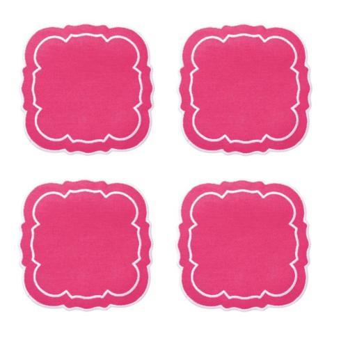 $33.00 Fucshia / White - Boxed Set of 4