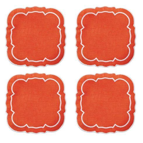 $33.00 Orange / White - Boxed Set of 4