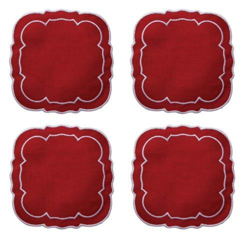$33.00 Red Red / White - Boxed Set of 4