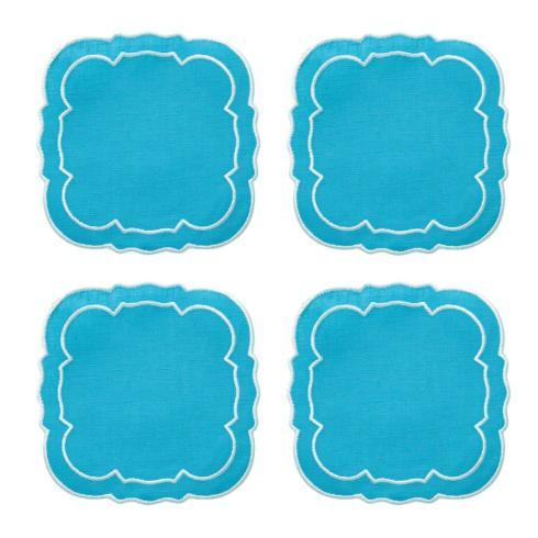 $33.00 Turquoise / White - Boxed Set of 4