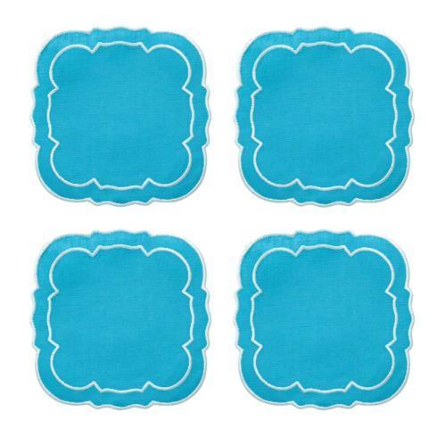 $33.00 Turquoise / White - Boxed Set of 4