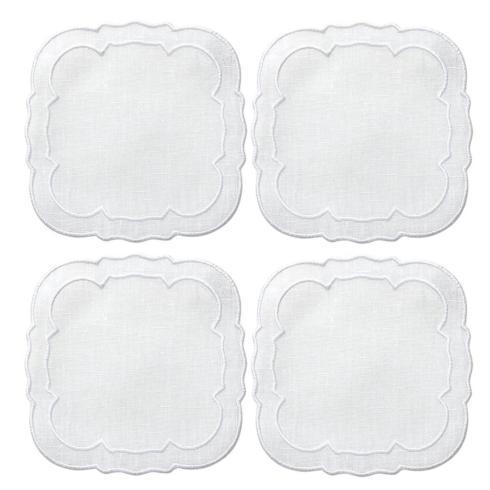 $33.00 White / White - Boxed Set of 4