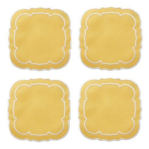 $33.00 Yellow / White - Boxed Set of 4