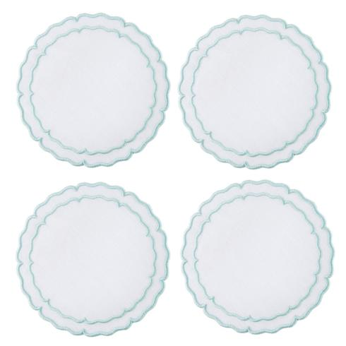 $33.00 White with Ice Blue - Boxed Set of 4