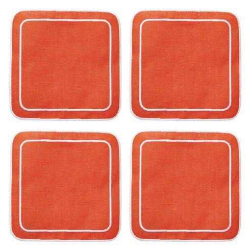 $33.00 Orange - Boxed Set of 4
