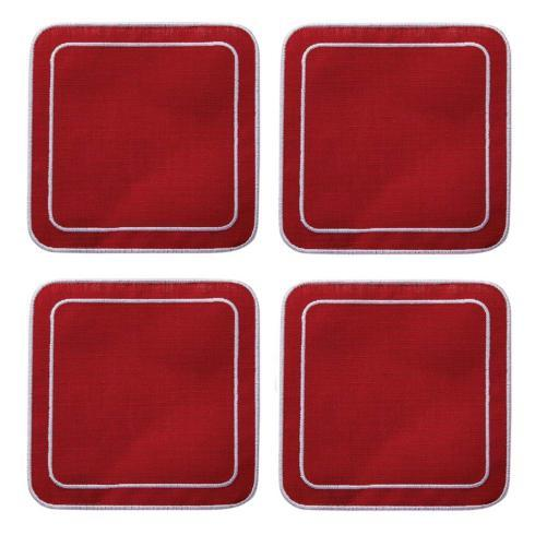 $33.00 Red Red - Boxed Set of 4