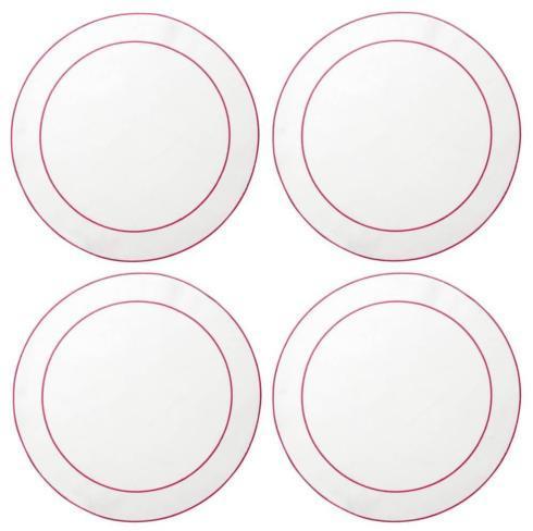 $33.00 White with Fucshia - Boxed Set of 4