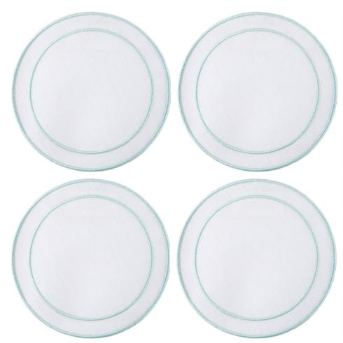 $33.00 White with Ice Blue - Set of 4