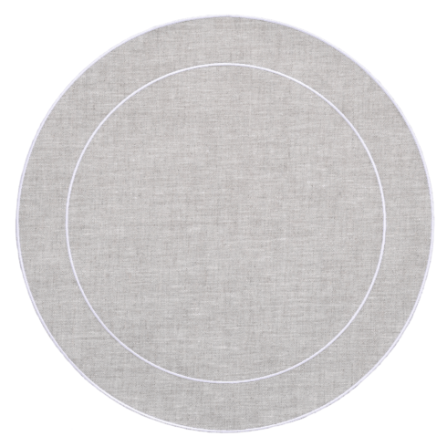 $100.00 Linho Simple Round Placemat Dark Natural - Set of 4