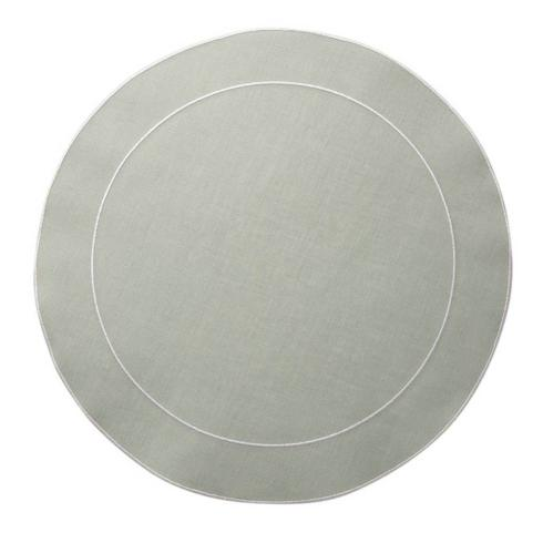 Skyros Designs  Linho Simple Round Placemats Ice Blue - Set of 4 $108.00