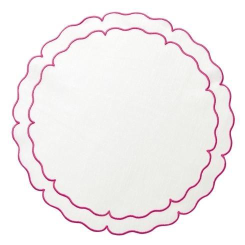 $108.00 White w/ Fuchsia - Set of 4