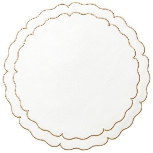$100.00 White w/ Gold - Set of 4